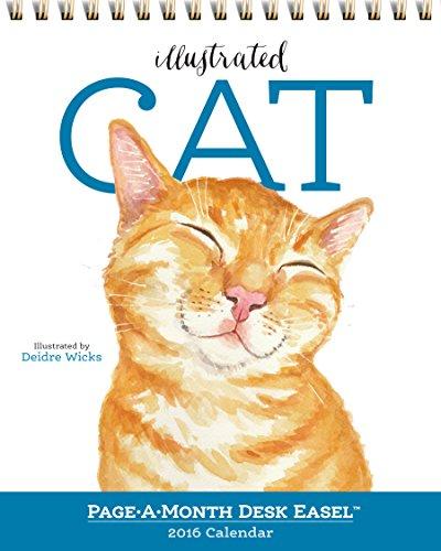 9780761185253: Illustrated Cat Page-A-Month Desk Easel Calendar 2016