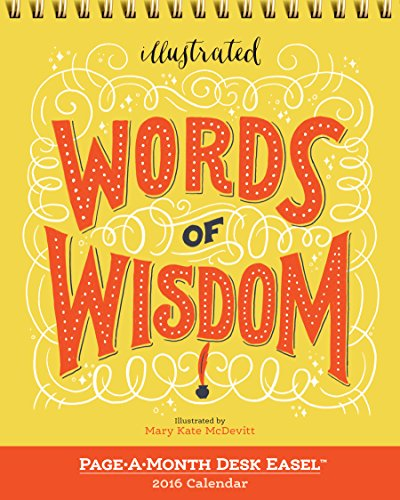 9780761185291: Words of Wisdom Page-a-month Easel 2016 Calendar