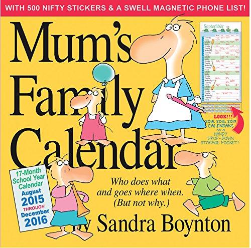 9780761186601: Mum's Family Calendar 2016