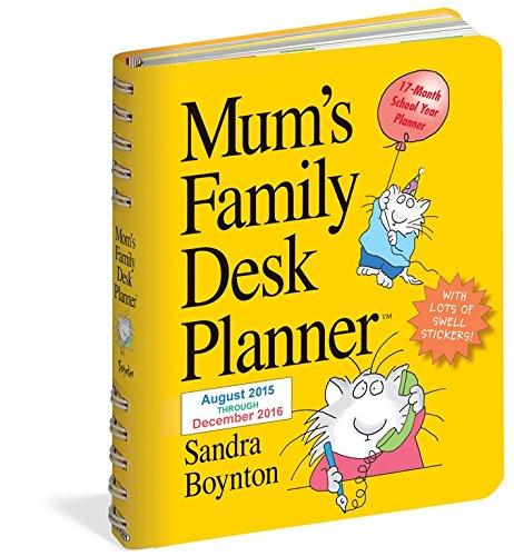 9780761186618: 2016 Mums Family Desk Planner