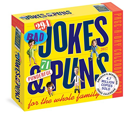 294 Bad Jokes & 71 Punderful Puns Page-A-Day Calendar 2017
