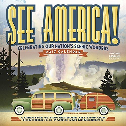 9780761188261: See America! Wall Calendar 2017