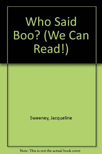 9780761409243: Who Said Boo? (We Can Read!)