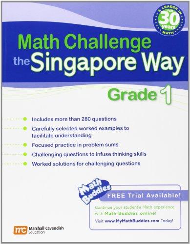 9780761480273: Math Challenge the Singapore Way, Grade 1