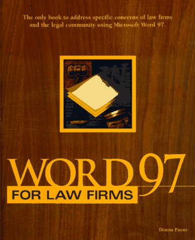 9780761513162: Word 97 for Law Firms