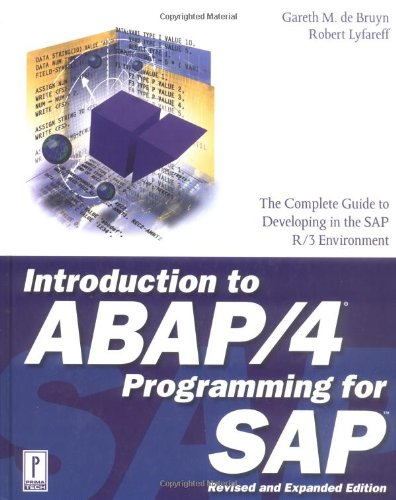 9780761513926: Introduction to ABAP/4 Programming for SAP, Revised and Expanded Edition