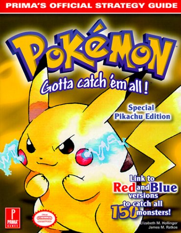9780761522775: Pokemon Yellow (Prima's Official Strategy Guide)