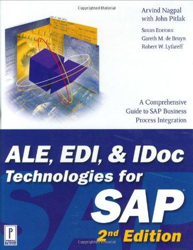9780761534310: ALE, EDI and Idoc Technologies for SAP (Prima Tech's SAP)