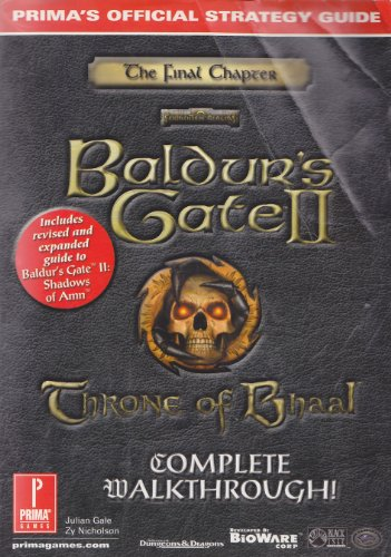 9780761535997: Baldur's Gate 2: Throne of Bhaal Official Strategy Guide