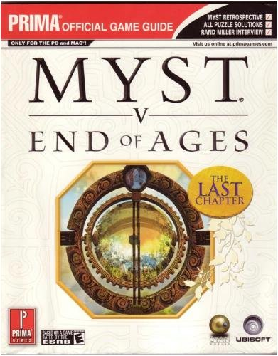 Myst V: End of Ages, Prima Official Game Guide: Postma, Katherine; Stratton, Bryan
