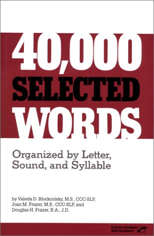 9780761623007: 40, 000 Selected Words (Softbnd)*