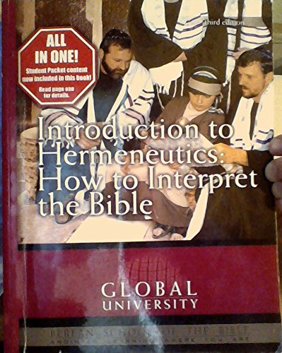 Introduction to Hermeneutics: How to Interpret the Bible (An Independent-Study Textbook): Carl ...
