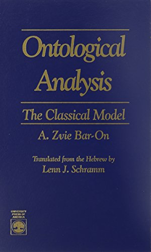 9780761800293: Ontological Analysis: The Classical Model (Lecture Note in Computer Science;1024)