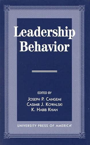 9780761809401: Leadership Behavior