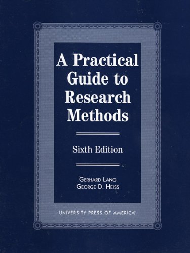 9780761809807: A Practical Guide to Research Methods