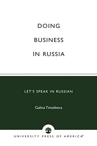 9780761814498: Doing Business in Russia: Let's Speak in Russian