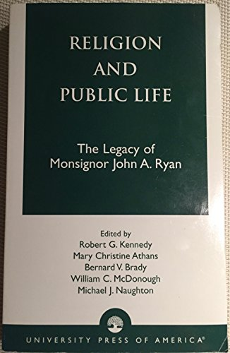 9780761820925: Religion and Public Life: The Legacy of Monsignor John A. Ryan