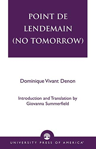 9780761822639: Point de lendemain (No Tomorrow)