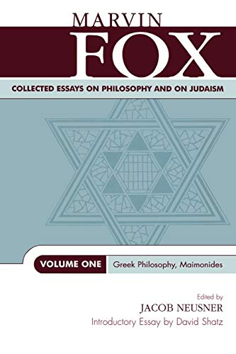 9780761825296: 1: Collected Essays on Philosophy and on Judaism: Greek Philosophy, Maimonides (Studies in Judaism) (Volume 1)