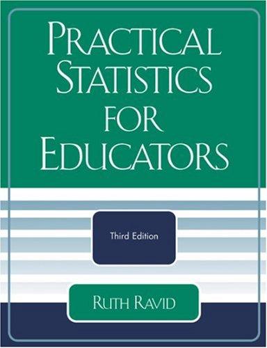 9780761831822: Practical Statistics for Educators