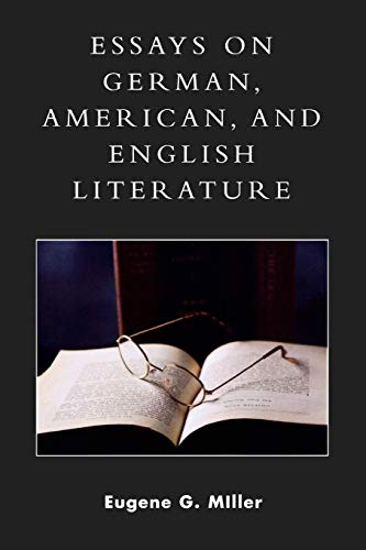 9780761832195: Essays on German, American and English Literature: A Philosophical and Theological Approach