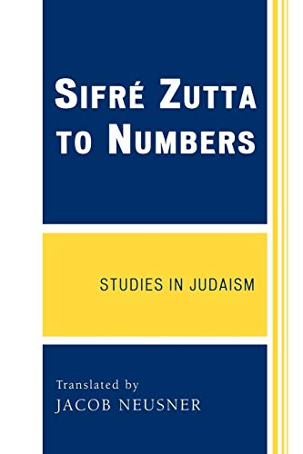 9780761844037: Sifre Zutta to Numbers