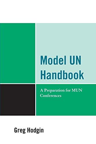 9780761854494: Model UN Handbook: A Preparation for MUN Conferences