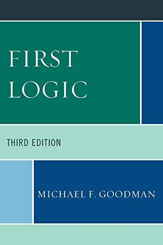 9780761860075: First Logic