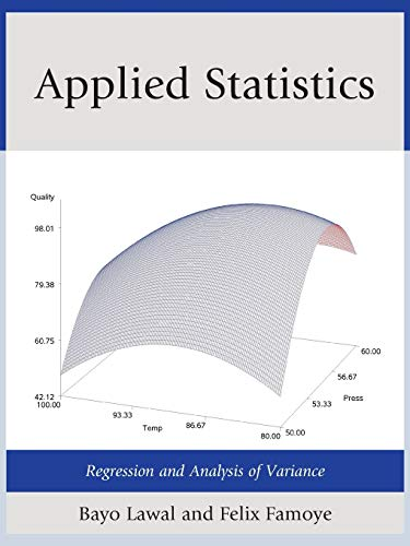 9780761861713: Applied Statistics: Regression and Analysis of Variance