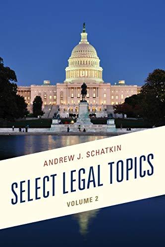 Select Legal Topics: Schatkin, Andrew J.