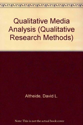 9780761901983: Qualitative Media Analysis (Qualitative Research Methods)