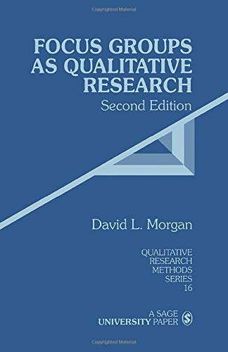 9780761903437: Focus Groups as Qualitative Research, Second Edition (Qualitative Research Methods Series 16)