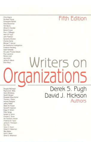 9780761904762: Writers on Organizations