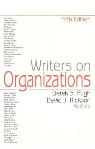 9780761904762: Writers on Organizations