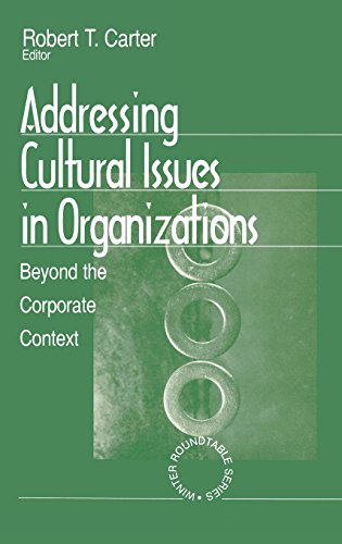 9780761905486: Addressing Cultural Issues in Organizations: Beyond the Corporate Context (Winter Roundtable Series (Formerly: Roundtable Series on Psychology & Education))