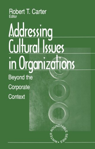9780761905493: Addressing Cultural Issues in Organizations: Beyond the Corporate Context (Winter Roundtable Series (Formerly: Roundtable Series on Psychology & Education))