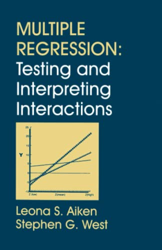 9780761907121: Multiple Regression: Testing and Interpreting Interactions