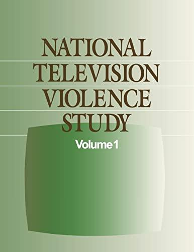 9780761908029: National Television Violence Study (National Television Violence Study series)