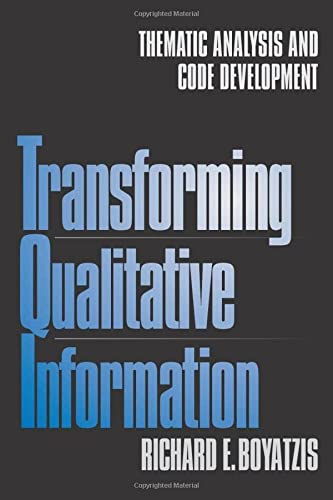 9780761909613: Transforming Qualitative Information: Thematic Analysis and Code Development