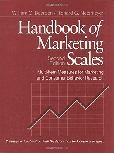 9780761910008: Handbook of Marketing Scales: Multi-Item Measures for Marketing and Consumer Behavior Research (Association for Consumer Research)