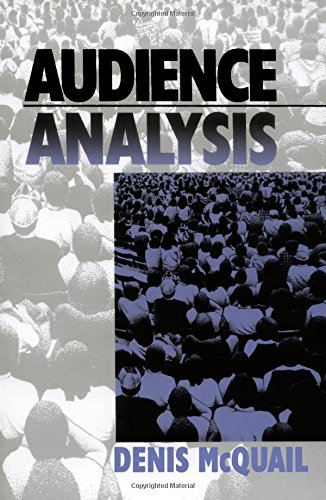 9780761910022: Audience Analysis