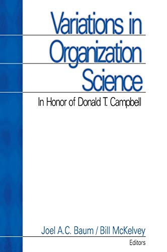 9780761911258: Variations in Organization Science: In Honor of Donald T Campbell