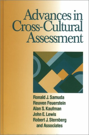 Advances in Cross-Cultural Assessment: Samuda, Ronald J.,