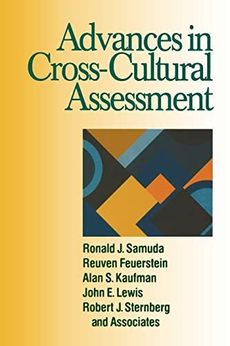 Advances in Cross-Cultural Assessment: Ronald J. Samuda,