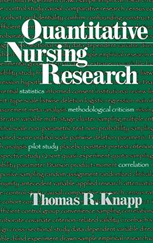9780761913627: Quantitative Nursing Research