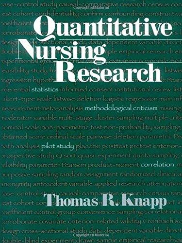 9780761913634: Quantitative Nursing Research