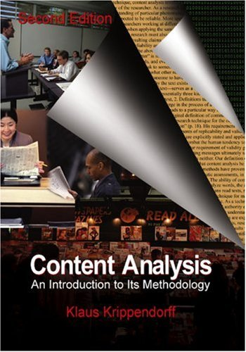 9780761915447: Content Analysis: An Introduction to Its Methodology