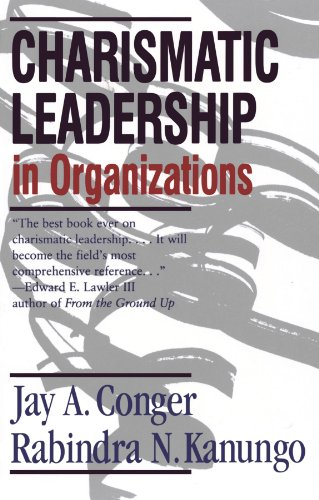 9780761916345: Charismatic Leadership in Organizations (Southeastern United States)