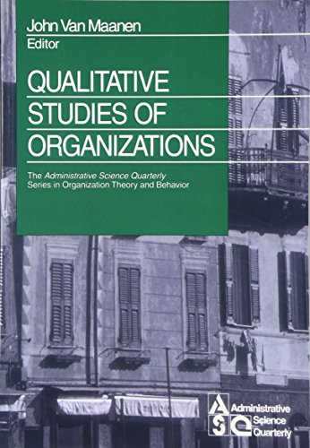 9780761916956: Qualitative Studies of Organizations (The Administrative Science Quarterly Series in Organizational Theory and Behavior)
