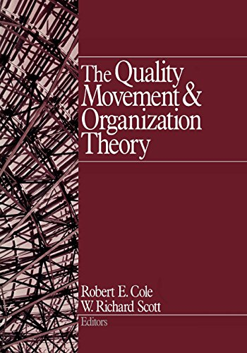 9780761919766: The Quality Movement and Organization Theory (NULL)
